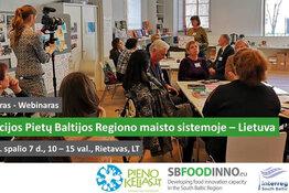 """Seminaras """"Inovacijos Pietų Baltijos Regiono maisto sistemoje - Lietuva"""""""