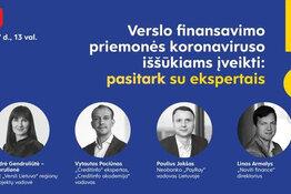 Verslo finansavimo priemonės koronaviruso iššūkiams įveikti: pasitark su ekspertais