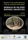 """Gedulo ir vilties dienai skirtas dviračių žygis """"Iššūkis partizanų takais"""""""